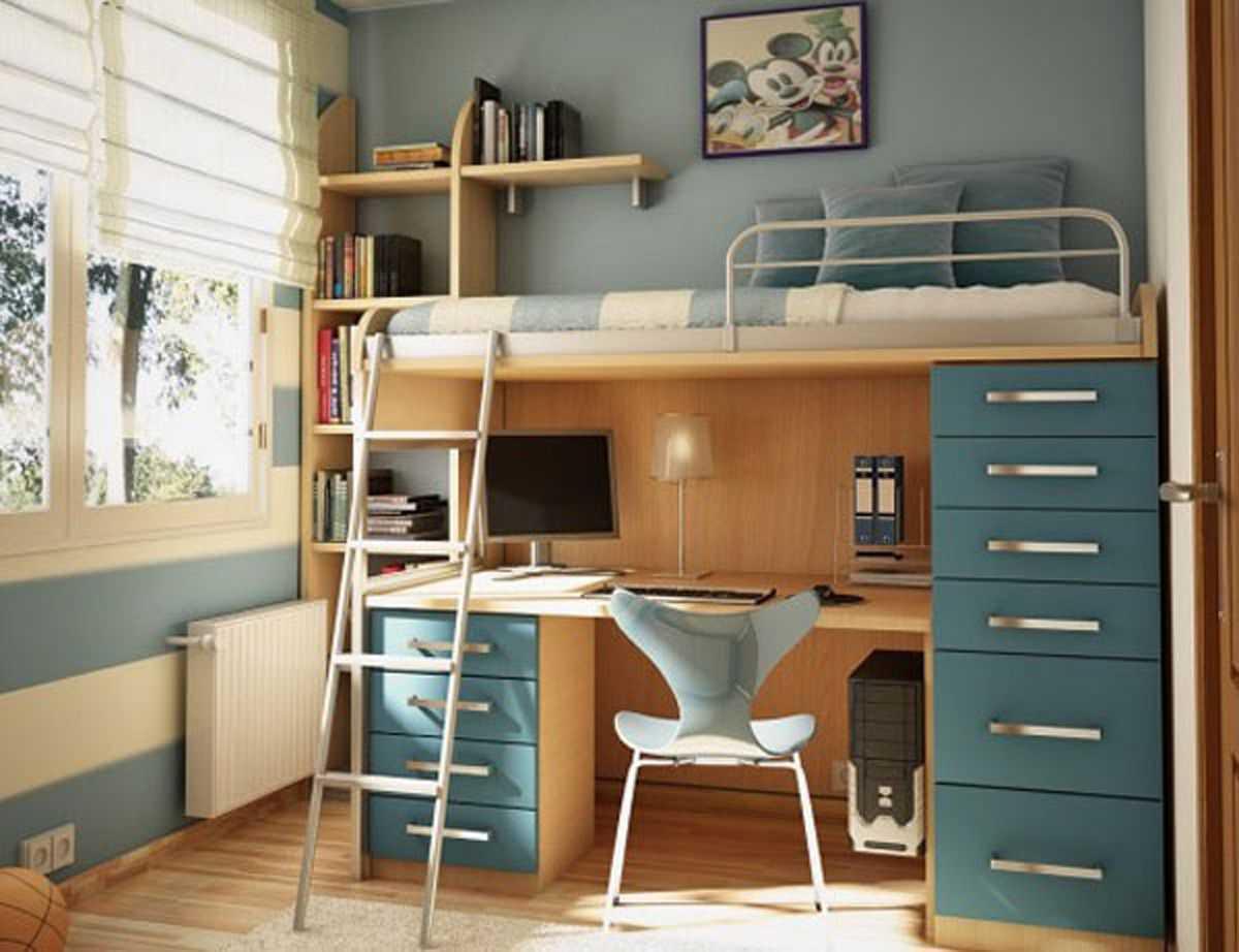 Giường tầng có thêm bàn đa năng và tiện nghi, tiết kiệm diện tích