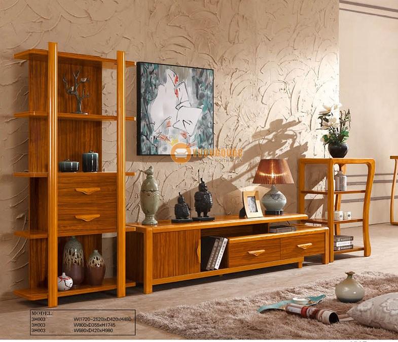 Kệ tivi gỗ sồi hiện đại