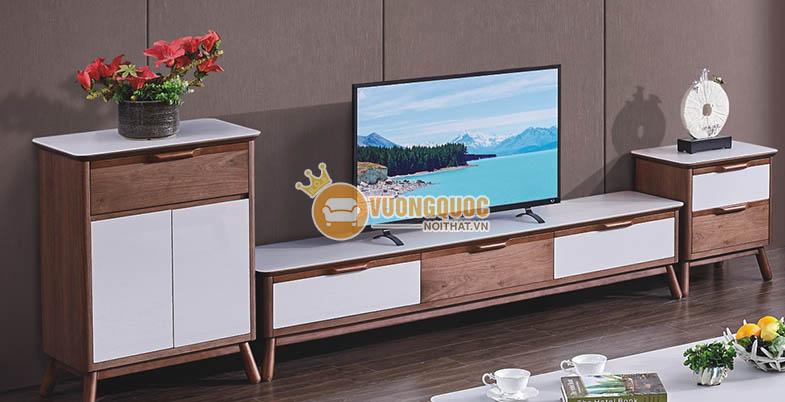 Kệ tivi gỗ tự nhiên hiện đại
