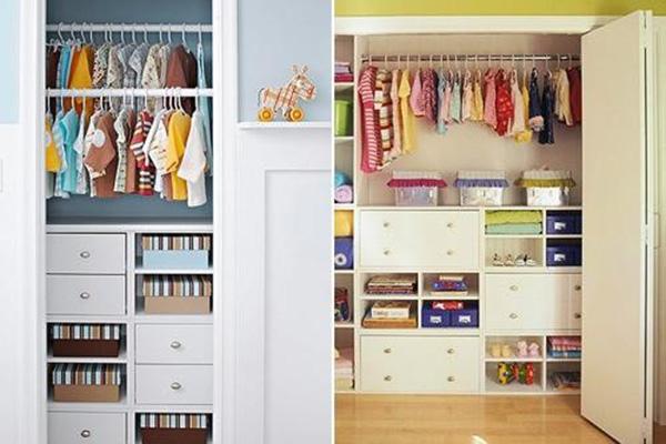 Sử dụng tủ quần áo có thiết kế nhiều ngăn nhỏ