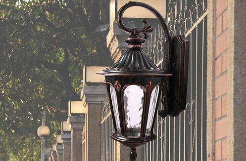 đèn tường hàng rào
