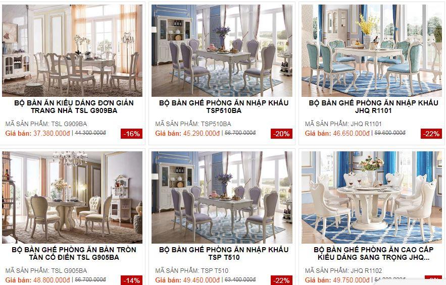 Mua bàn ghế ăn tân cổ điển giá rẻ nhập khẩu ở đâu?