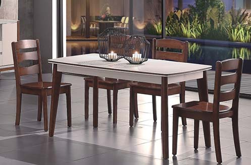 Bộ bàn ăn gia đình kiểu dáng đơn giản