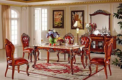 Bộ bàn ghế phòng ăn gỗ tự nhiên kiểu dáng đẹp