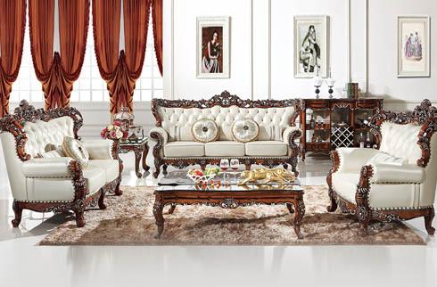 Bộ sofa phòng khách cao cấp phong cách hoàng gia