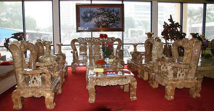 Bàn ghế gỗ ngọc nghiến